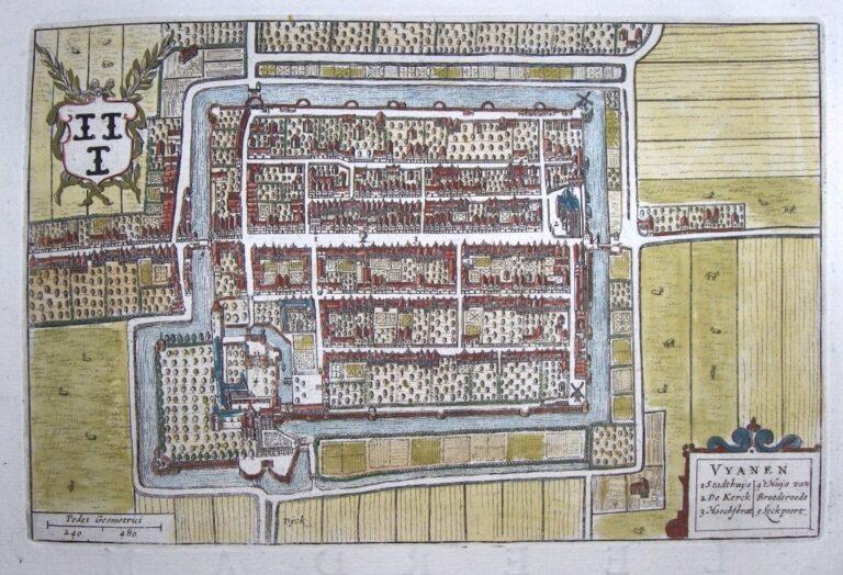 Vianen, stad in de middeleeuwen.